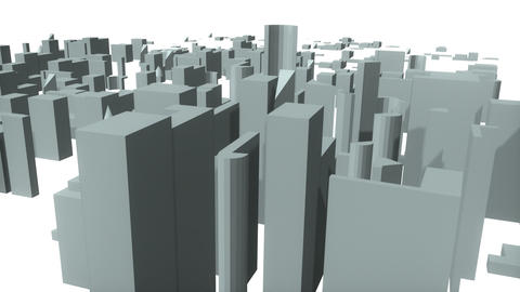 Animated 3d city Stock Video Footage