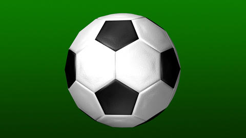 3d spinning Football Live Action