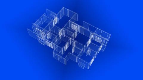 House Blueprints Stock Video Footage