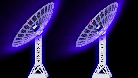 3d Satellite dishes Footage