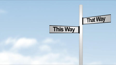 This way and that way sign Live Action
