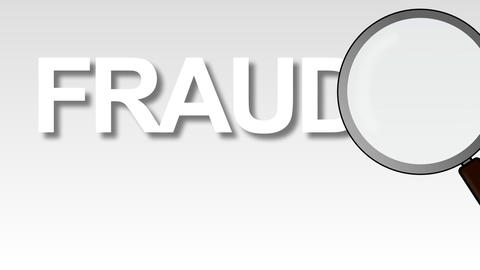 Fraud Word Magnified Animation