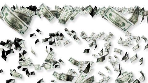Dollars falling Footage