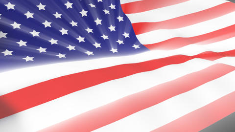 American Flag blowing in wind Footage