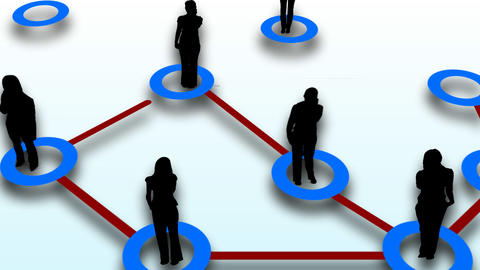 People network connection Animation