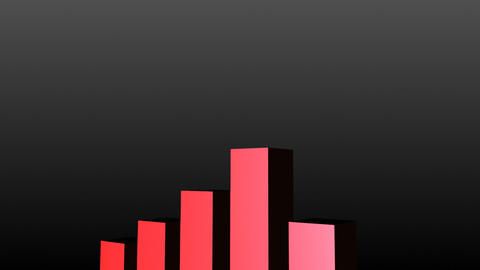 Red business graph showing profits Animation