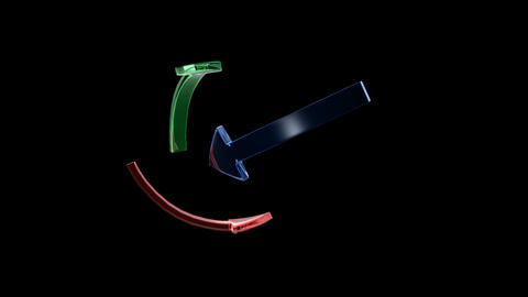 3D arrows Animation