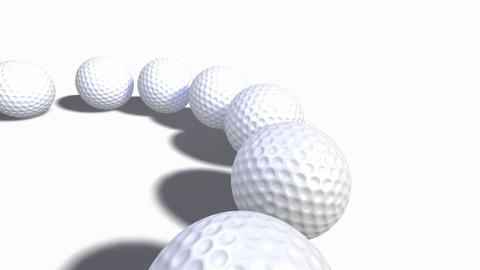 Collection of Golf Balls Animation