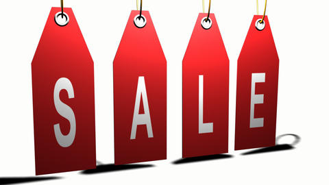 Hanging sale sign Stock Video Footage