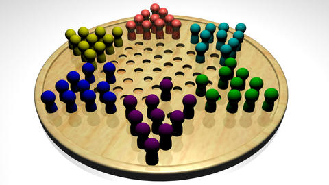 Chinese Checkers Stock Video Footage