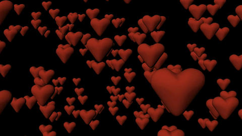 3d Falling Hearts Animation