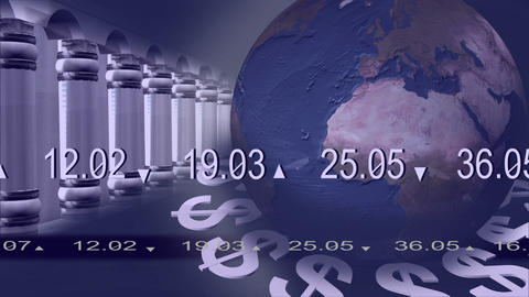 World Stock market 3d Animation Stock Video Footage