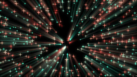 colourful star Glowing backgrond Footage