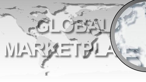 Global Market Place Animation Stock Video Footage