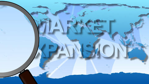 Global Market Animation Stock Video Footage