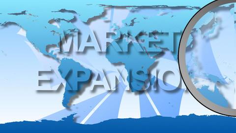 Global Market Animation stock footage