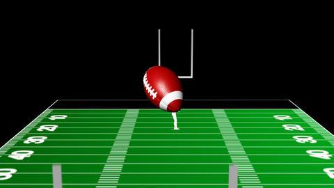 Kicking Field Goal stock footage