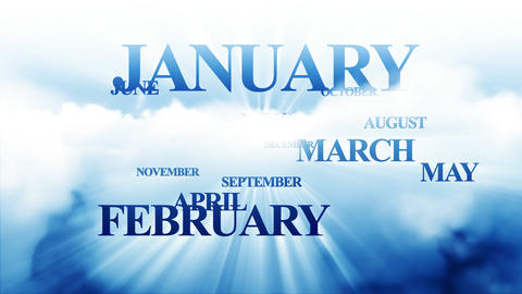 Months passing Stock Video Footage