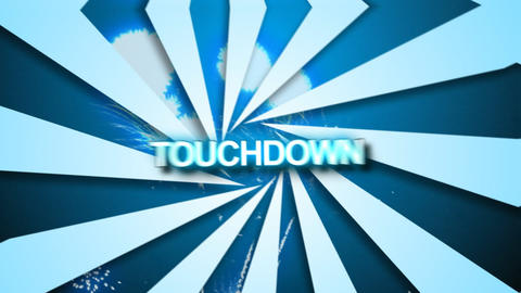 3d Touchdown animation Stock Video Footage