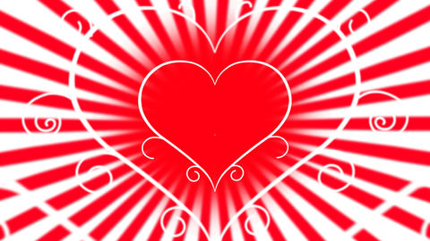 Love heart animation Animation