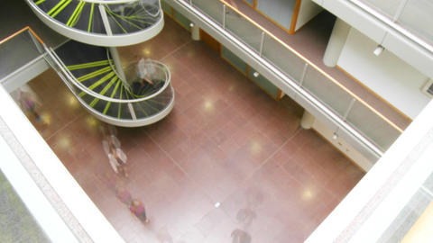 People walking in a business building quickly Animation