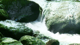 Small waterfall and stones Footage