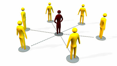 Business teamwork and leadership concept Animation