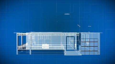 Wire 3d Building Blueprints Footage