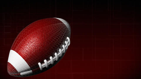 3d American Football stock footage