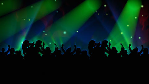 People Dancing at a concert Animation