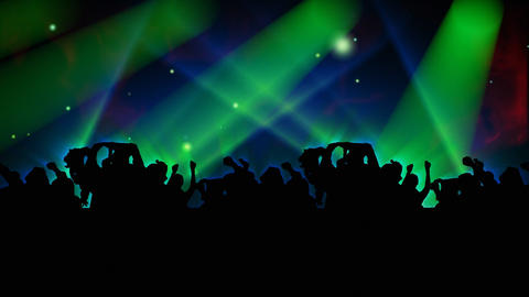 People Dancing at a concert Stock Video Footage