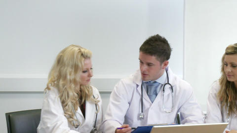 Young Doctors at work in a hospital Footage