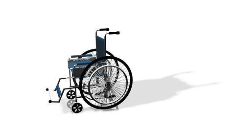 3d Wheel Chair Stock Video Footage