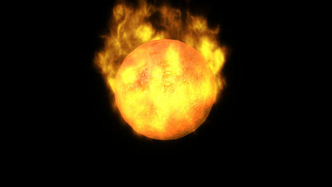 3d Fireball in HD Stock Video Footage
