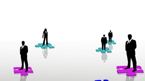 Business teamwork concept Animation