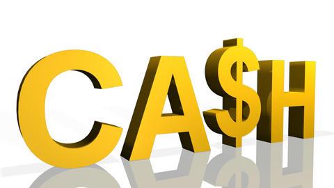 3d Cash Symbol Footage