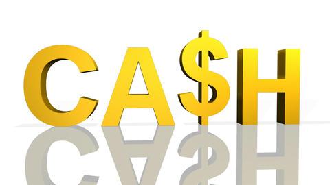 3d Cash Symbol Stock Video Footage