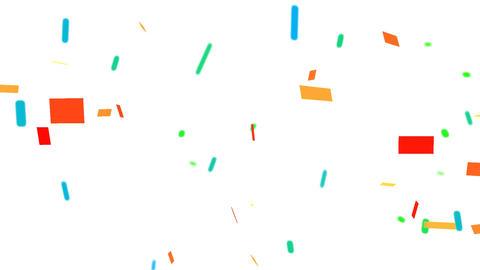 3d Confetti falling Stock Video Footage