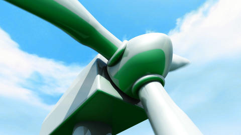 Wind Farm animation Stock Video Footage
