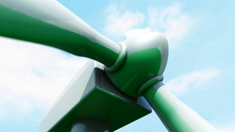 Wind Farm animation Stock Video Footage