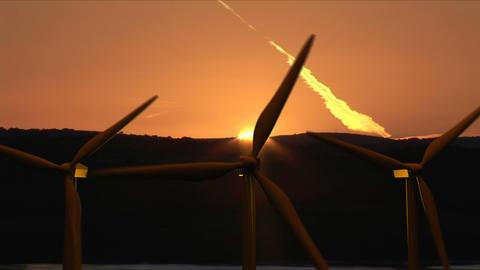 Wind Turbines moving Stock Video Footage