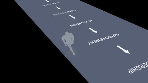 Animation of a Businessman Running Footage