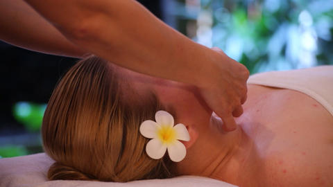 Young woman getting spa Stock Video Footage