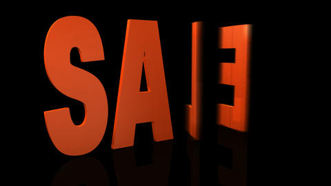 3d sale sign Stock Video Footage