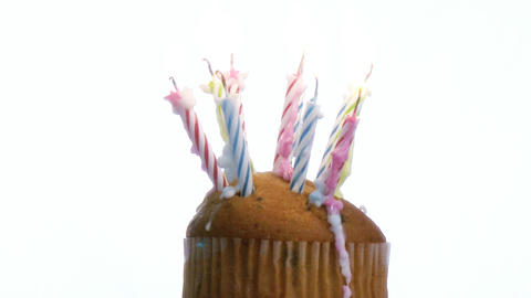 Birthday Candles on a cake Stock Video Footage