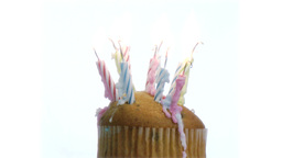 Birthday Candles on a cake2 Footage