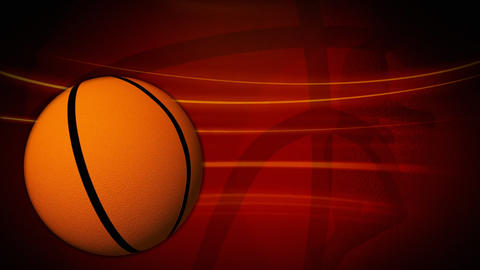 Spinning basketball animation Stock Video Footage