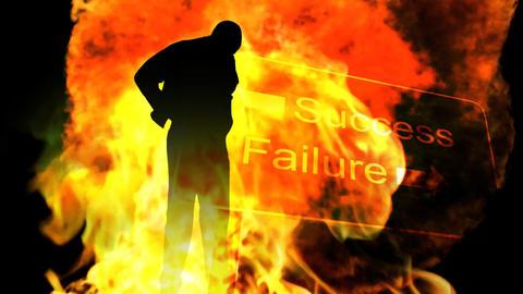Businessman Burning after failure Footage