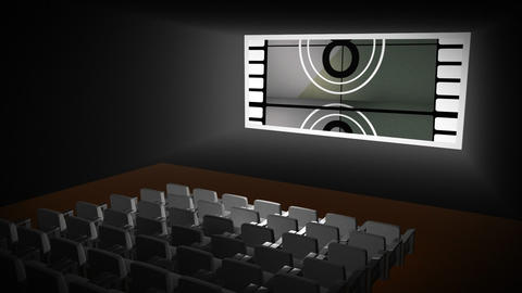 Countdown In A Cinema stock footage