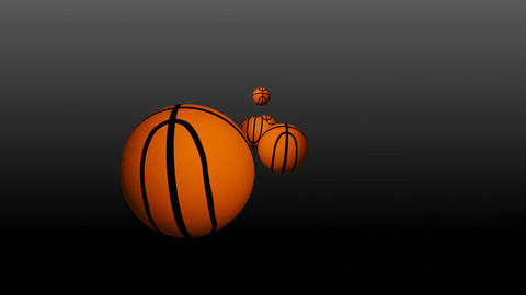 3d Basketballs Falling Stock Video Footage
